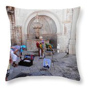 Macaws In Dubrovnik Throw Pillow