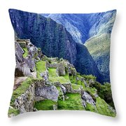 Macchu Picchu Peru - Ruins Throw Pillow