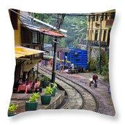 Macchu Picchu Town - Peru Throw Pillow
