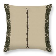 Maccormack Written In Ogham Throw Pillow