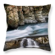 Macdonald Creek Falls Glacier National Park Throw Pillow