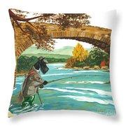 Macduff Fishing Throw Pillow
