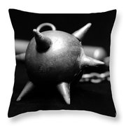 Mace  Medieval Weapon Throw Pillow