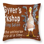 Macgyvers Workshop Throw Pillow