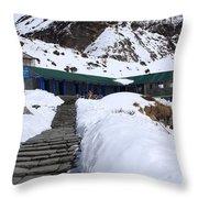 Machhapuchchhre Base Camp, Nepal  Throw Pillow