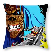 Machine Head-ie Throw Pillow