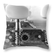 Machine Head In Black And White Throw Pillow