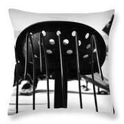 Machine Seat 1 Throw Pillow by Roger Snyder