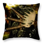 Machine Thoughts Throw Pillow