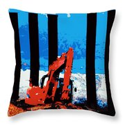 Machine Vs Wild Throw Pillow