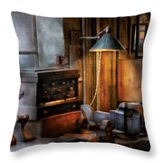 Machinist - My Workstation Throw Pillow by Mike Savad