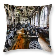 Machinist - Precision Matters Throw Pillow by Paul Ward