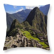 Machu Picchu Throw Pillow