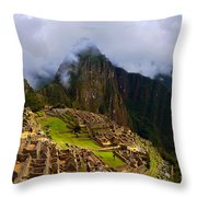 Machu Picchu Overlook Throw Pillow