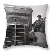 Mack Truck  1943 Throw Pillow