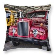 Mack Truck V2 Throw Pillow
