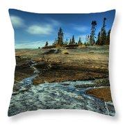 Mackenzie Point Outcrop Throw Pillow