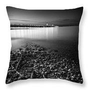 Mackinac Bridge Bw Throw Pillow