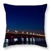 Mackinac Bridge Just After Sunset Throw Pillow