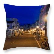 Mackinac Island Midnight Throw Pillow