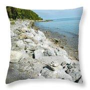Mackinac Island Race Throw Pillow