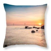 Mackinac Sunrise Throw Pillow