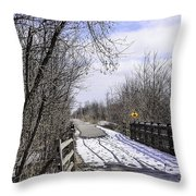 Macomb Orchard Trail Throw Pillow