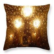 Macro Lights Throw Pillow
