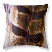 Macro Pheasant Throw Pillow