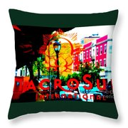 Macro Sun International Throw Pillow