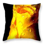 Macro Yellow Rose 2 Throw Pillow