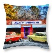 Mac's Drive In Throw Pillow