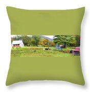 Mac's Farm In Balsam Grove 2 Throw Pillow