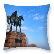 Mad Anthony Throw Pillow by Olivier Le Queinec