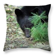 Mad Bear Throw Pillow