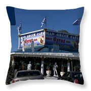 Mad Greek Cafe Throw Pillow