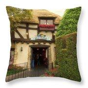 Mad Hatter Fantasyland Disneyland 01 Throw Pillow