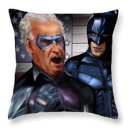Mad Men Series 3 Of 6 - Obama And Biden Throw Pillow by Reggie Duffie