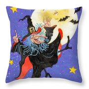 Mad Millie Moon Dance Throw Pillow by Richard De Wolfe