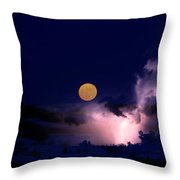 Mad Moon Throw Pillow