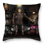 Mad Scientist - The Enforcer Throw Pillow