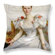 Madam The Countess Of Cambaceres Throw Pillow