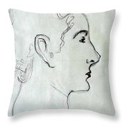 Madam X Throw Pillow