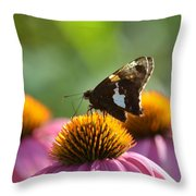 Madame Brown Throw Pillow