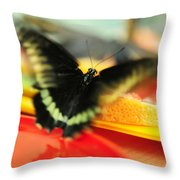 Madame Butterfly. Impressionism Throw Pillow