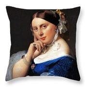 Madame Delphine Ingres Throw Pillow