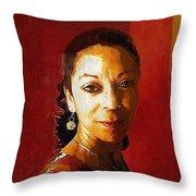 Madame Exotic Throw Pillow