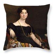 Madame Jacques-louis Leblanc. Francoise Poncelle Throw Pillow
