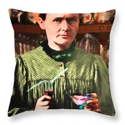 Madame Marie Curie Shaking Up A Killer Martini At The Swank Hipster Club 88 20140625 Throw Pillow