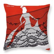 Madame Will Drop Her Shawl Throw Pillow